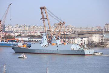 Chinese Shipyard Launches 2nd Type 054 A/P Frigate For Pakistan Navy