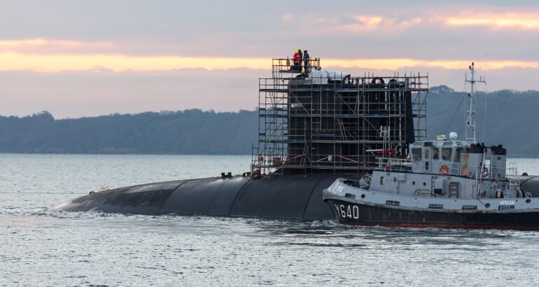 French Navy SSBN Le Terrible Dry-Docked for Maintenance & Upgrade Work