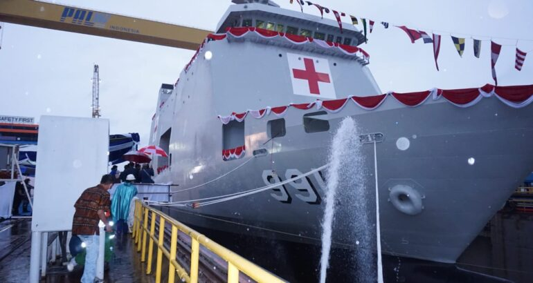 Indonesia's PT PAL Launches BRS Hospital Ship for TNI AL