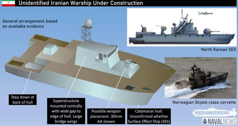 New unidentified warship seen in Iran