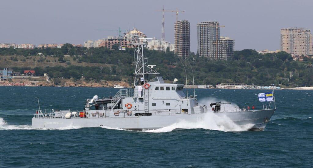 P190 Sloviansk is an Island-class patrol boat