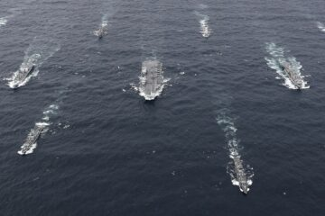 Royal Navy's CSG Passed For The First Time Through The Strait Of Malacca