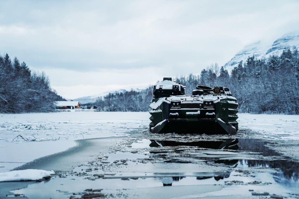 USMC AAV in the Arctic