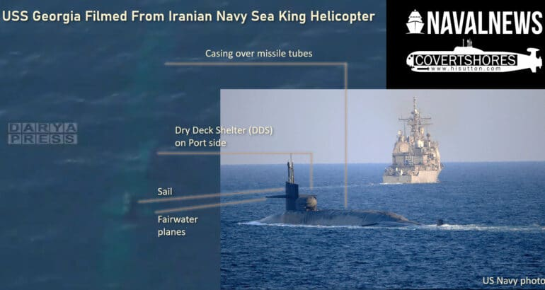 US Navy submarine filmed by Iranian Navy while submerged