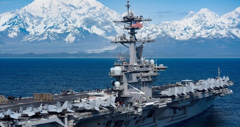 USS Theodore Roosevelt (CVN 71) in Alaska