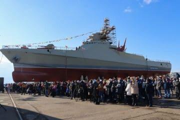 Zaliv Shipyard Launches 4th Project 22160 Patrol Vessel 'Sergey Kotov'