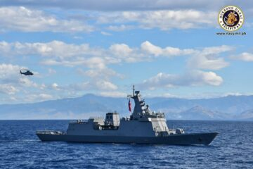 Philippine Navy welcomes new Frigate as it reaches home waters