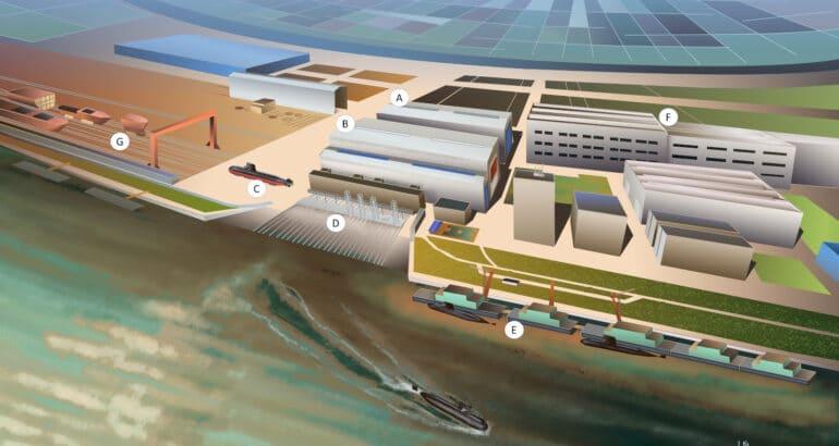 China Submarine Construction Site Wuhan, Wuchang Shipyard