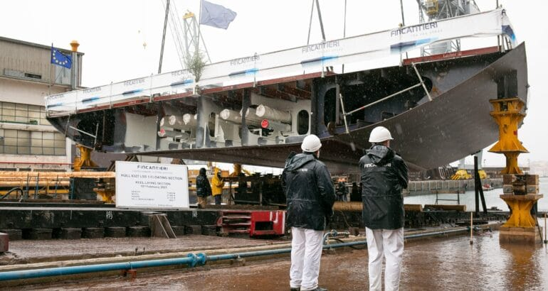 Fincantieri Lays Keel of French Navy's BRF Forward Section