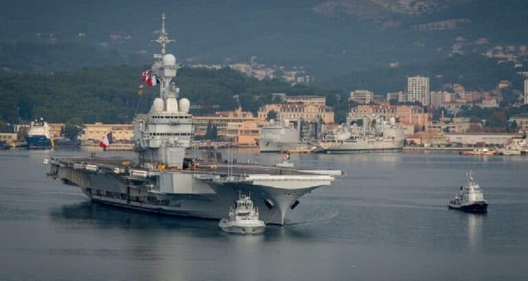 French Navy took its Aircraft Carrier through Degaussing ahead of Deployment