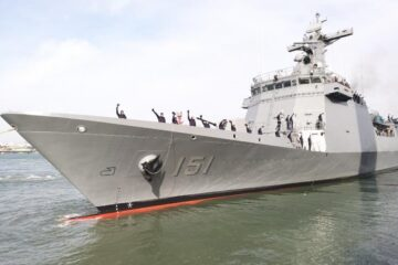 Philippine Navy's New Frigate 'Antonio Luna' Sails Home For Commissioning