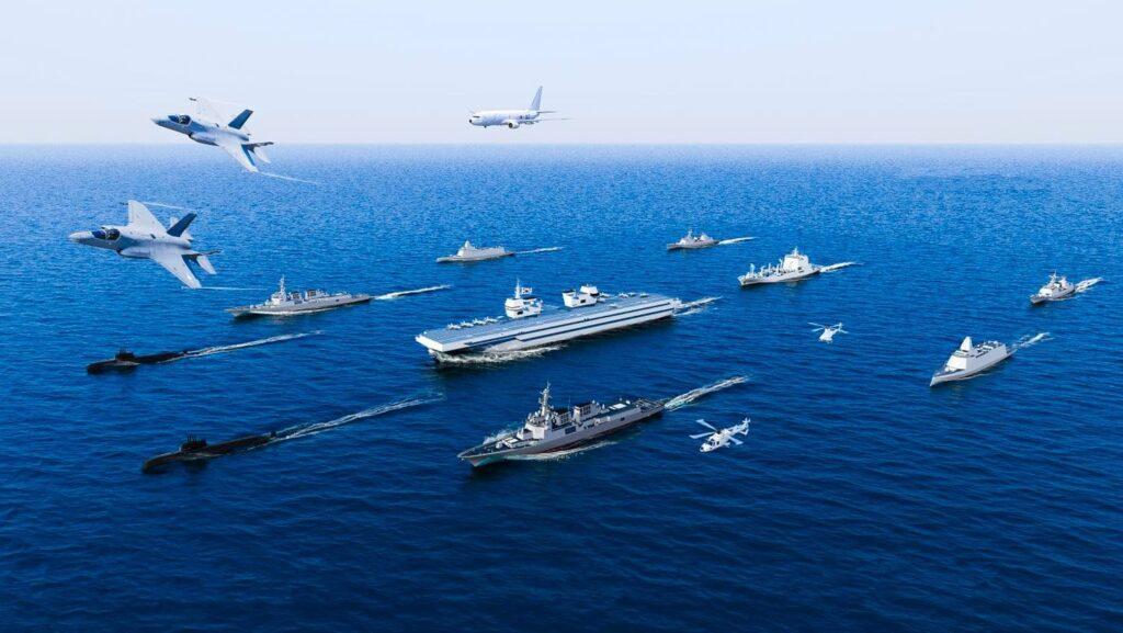 ROK Navy's future carrier strike group