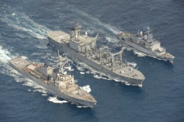 Tri-lateral Replenishment-at-Sea Between USA, Japan and France