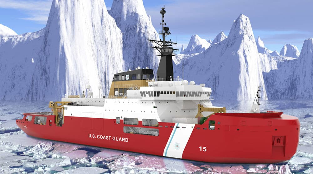 Artist's rendering of the USCG Polar Security Cutter PSC