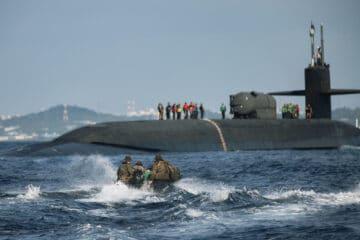 USS Ohio, USMC test joint expeditionary concept near Okinawa