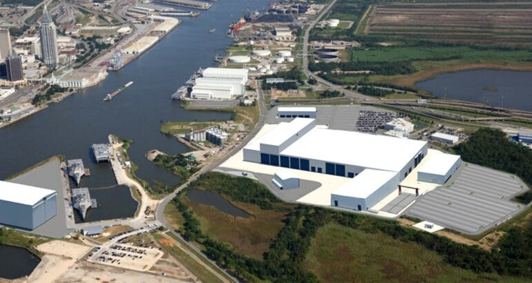 Austal USA breaks ground on new Steel Manufacturing line