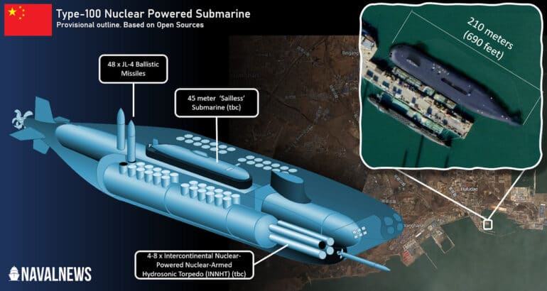 Chinese Navy Type-100 Nuclear Submarine
