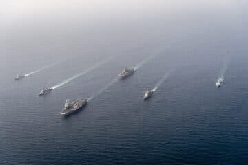 France Belgium Japan and the U.S. conduct maritime exercise in the Arabian Sea