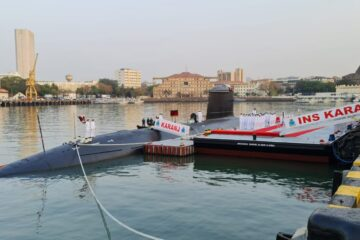 Indian Navy Commissions 3rd Scorpene-class Submarine INS Karanj