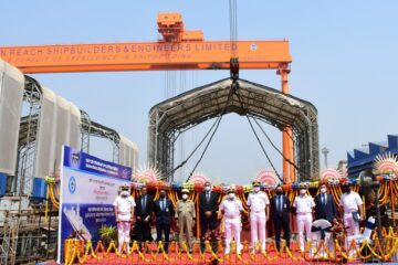 India's GRSE lays keel of its third Project 17A Frigate
