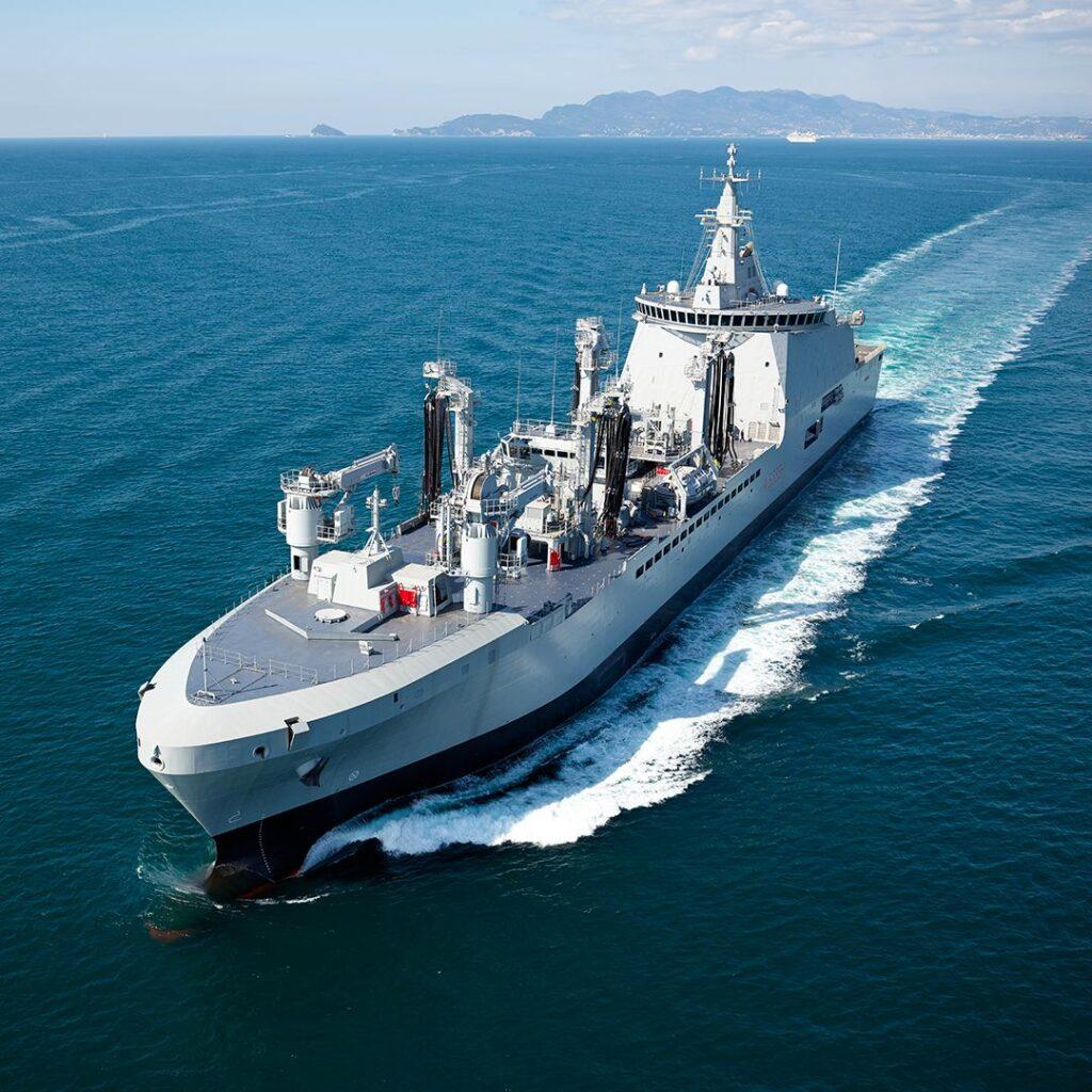 Logistic Support Ship Vulcano (A 5335) during sea trials.