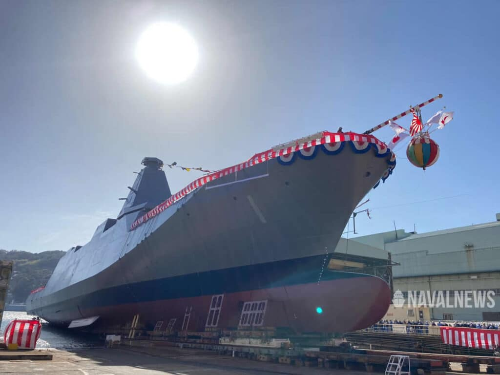 Japan's MHI launches Mogami first-in-class 30FFM Frigate for the JMSDF 2
