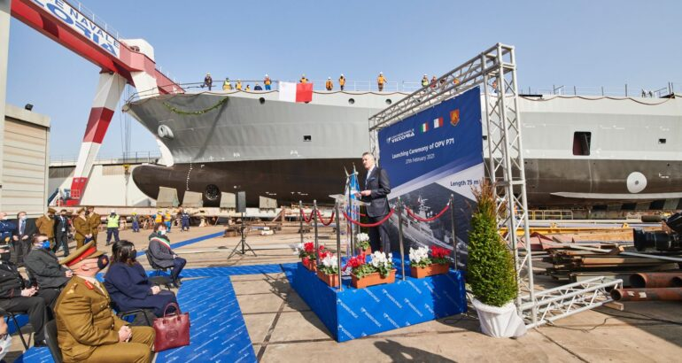 Malta's new Offshore Patrol Vessel launched by Vittoria Shipyard
