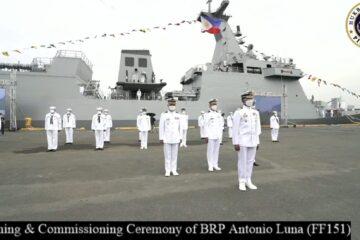 Philippine Navy Commissions New Jose Rizal-class Frigate BRP Antonio Luna