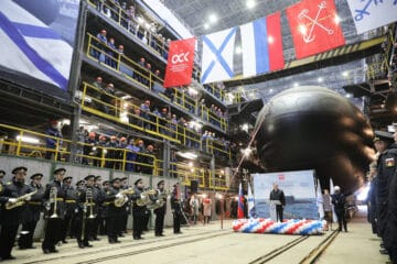 Russia's Admiralty Shipyards launches Project 636.3 submarine 'Magadan' for Pacific Fleet