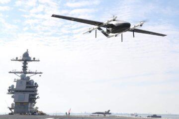 US Navy demonstrates long-range unmanned transport cargo over Naval Air Station Norfolk