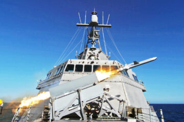USS Gabrielle Giffords test-launches NSM for the second time