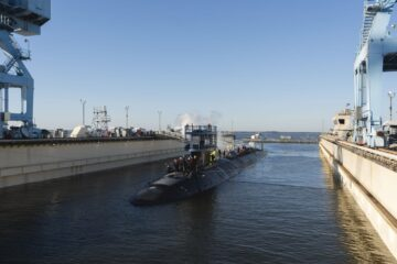 Virginia-class submarine Montana (SSN 794) launched by Huntington Ingalls