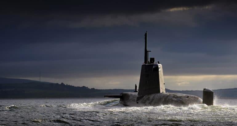 HMS Ambush Returning to HMNB Clyde, Scotland