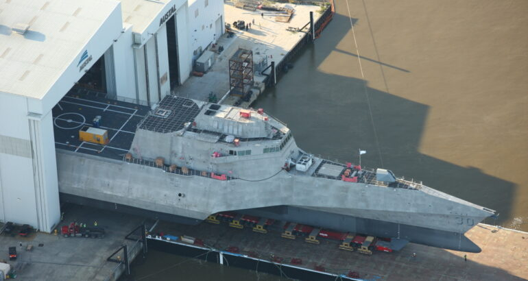 Launch of the future USS Canberra (LCS 30)