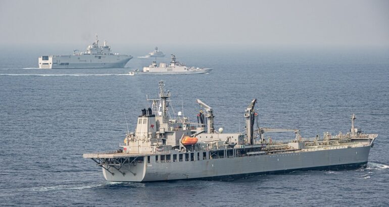 Australia France India Japan and the United States Take Part in Exercise La Pérouse