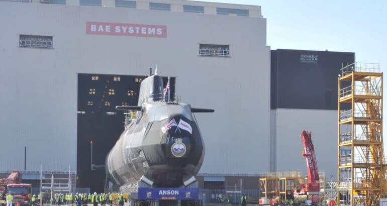 BAE Systems Launched the Fifth Astute-class Submarine for the Royal Navy