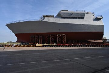 BAE Systems Rolls Out Forward Block of Royal Navy's Future HMS Glasgow Frigate
