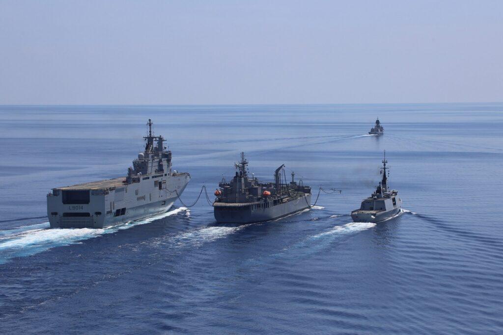 French Navy and Royal Australian Navy Ships Patrol the South China Sea Together