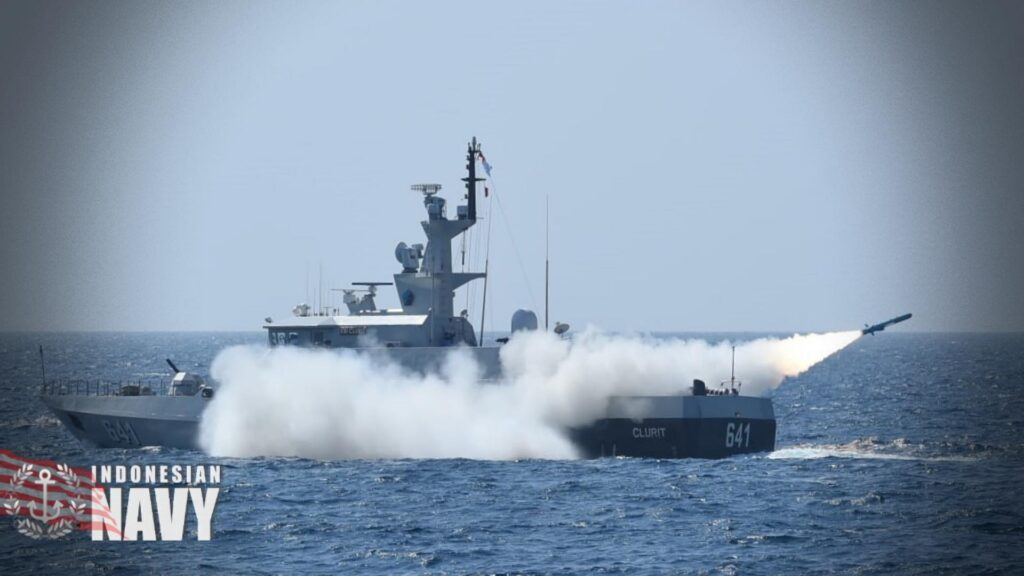 KCR-40 FACM launching a C-705 anti-ship missile during the SINKEX.