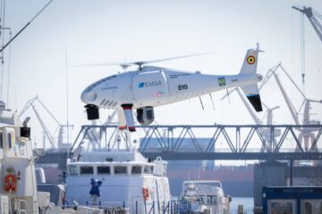 Romanian Border Police operating CAMCOPTER S-100 RPAS for maritime surveillance