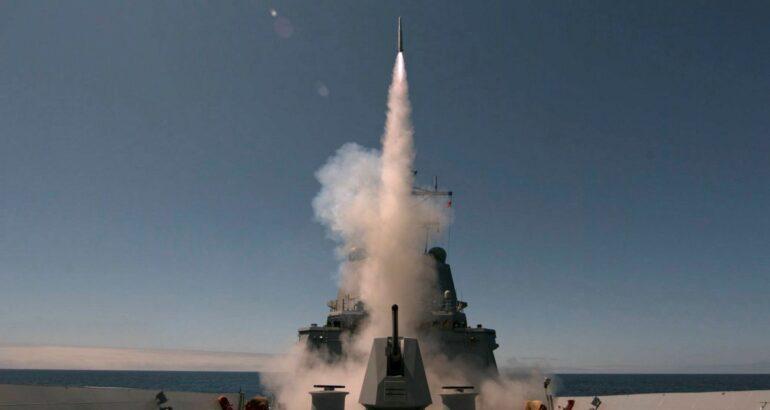 Royal Australian Navy Destroyer HMAS Sydney Fires ESSM for the First Time