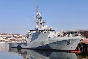 Royal Navy OPV HMS Tamar Gets Dazzle Camouflage Ahead of Pacific Deployment