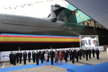 Spain's First S-80 Submarine Launched by Navantia