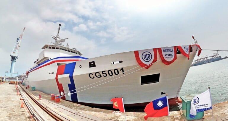 Taiwan Coast Guard receives its first Chiayi-class Large Patrol Vessel