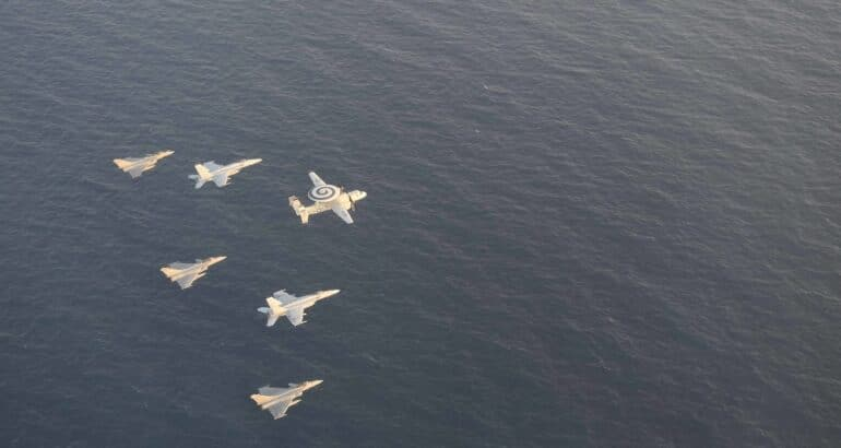 U.S., French Carrier Strike Groups Conduct Dual Carrier Operations