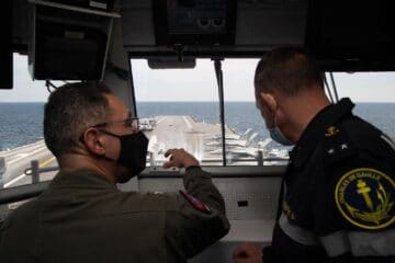 USS Gerald R. Ford Welcomes DGA and French Navy Aboard