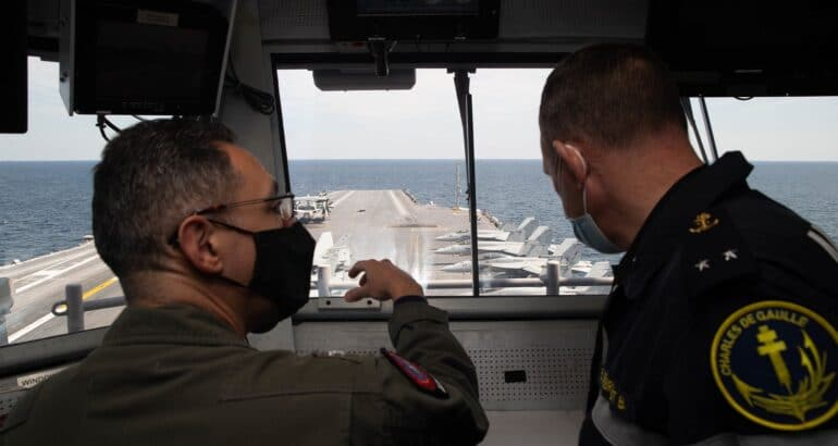 French Navy Visits CVN 78