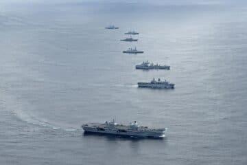 15 NATO Ships Meet Up in the North Atlantic Ocean