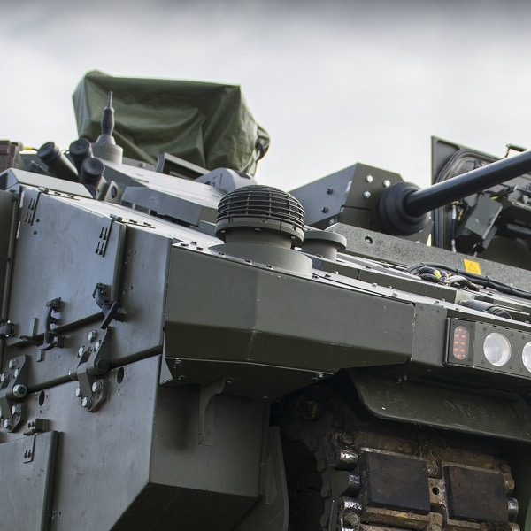 AJAX Armoured Vehicle at a 3 Div Combined Arms Manoeuvre Demonstration