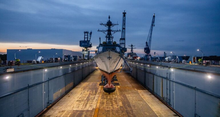 Bath Iron Works Launched Future USS Carl M. Levin (DDG 120)